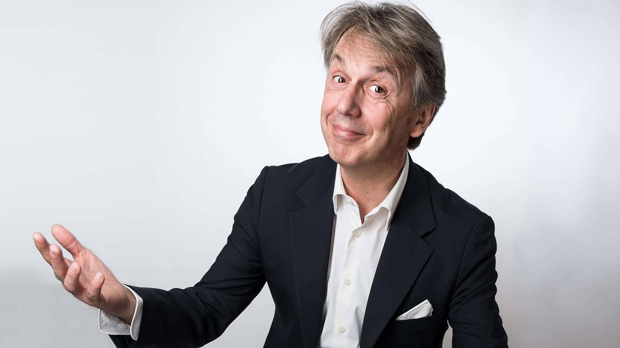 Der Kabarettist, Regisseur und Performer Massimo Rocchi, im Oktober 2013 in Bern. (Alessandro della Valle)